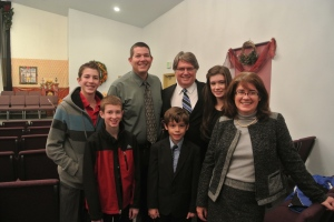 The Wright and Wilson families after the church service