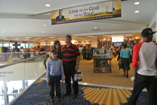 In front of Lakewood church bookstore